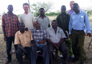 Dave with the blacksmiths in Singida