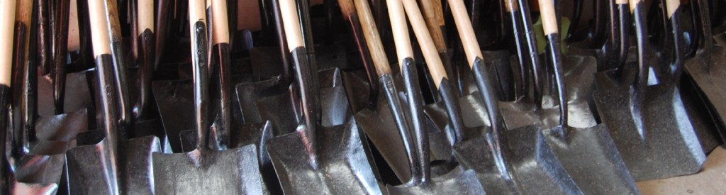 Shovels in our Mwanza workshop